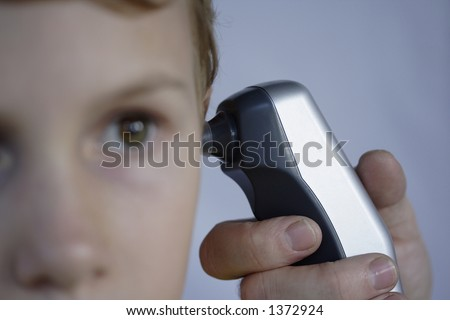 Digital thermometer - stock photo