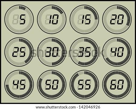 digital timer - stock photo