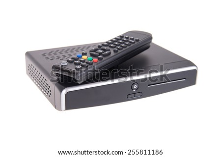Digital TV isolated on white background - stock photo