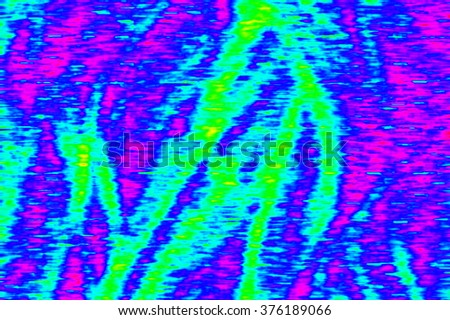 Digital TV screen broadcast glitch, television screen as technology background - stock photo