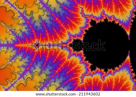 Digital visualization of a fractal - stock photo