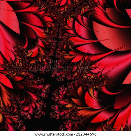 Digital Visualization of a fractal Structure - stock photo