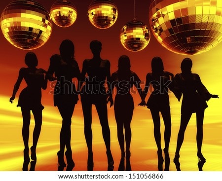 Digital Visualization of a Party - stock photo