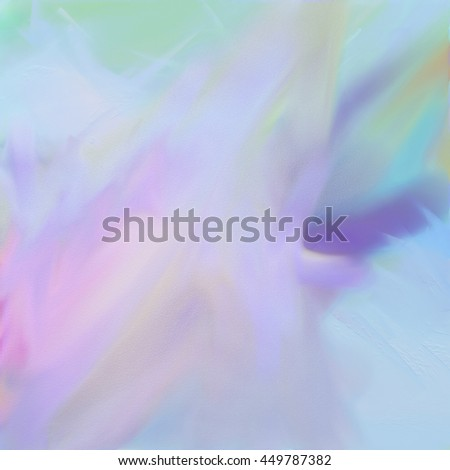 Digital watercolor abstract painting on paper in pale colors - stock photo