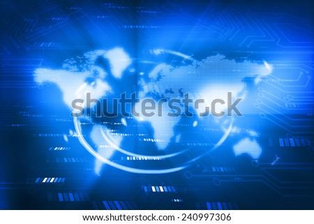 Digital world , global internet technology  - stock photo
