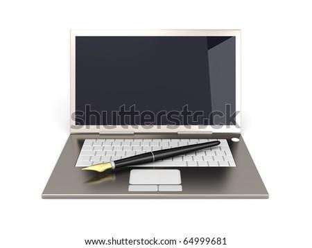 Digital Writer - stock photo