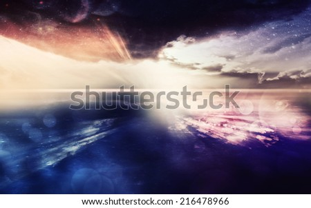 Digitally created fantasy scene. - stock photo