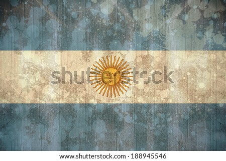 Digitally generated argentina flag in grunge effect - stock photo