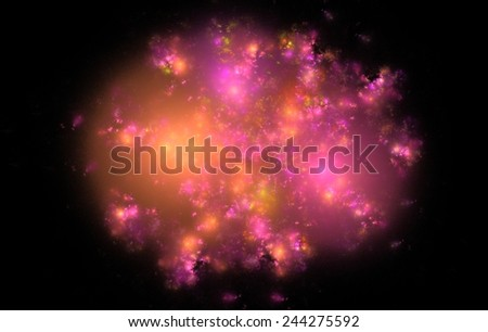 Digitally generated fractal texture of purple color, abstract background.