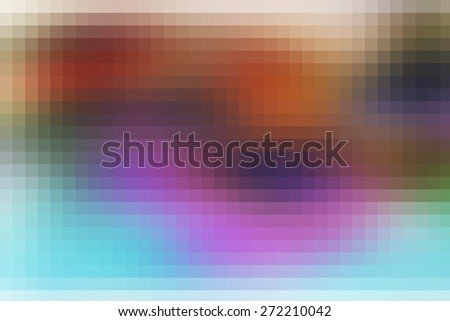 digitally generated image of colorful black background with beautiful square pattern texture mosaic filter  - stock photo