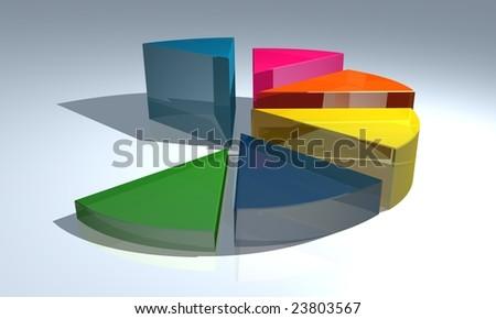 Digitally Pie Graph - stock photo