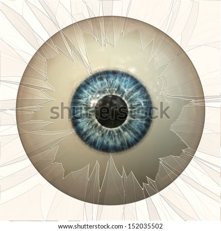 Digitally rendered illustration of an abstract eyeball background. - stock photo