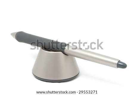 Digitizer pen on pedestal isolated