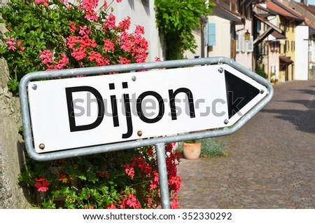 Dijon sign on the street