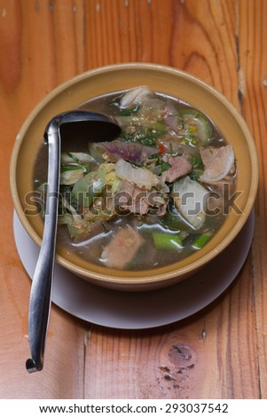 Dill Soup with pork.