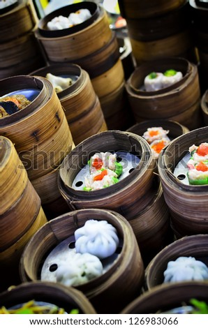 Dimsum chinese food on restaurant - stock photo