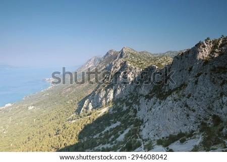 Dinaric mountains in Croatia. - stock photo