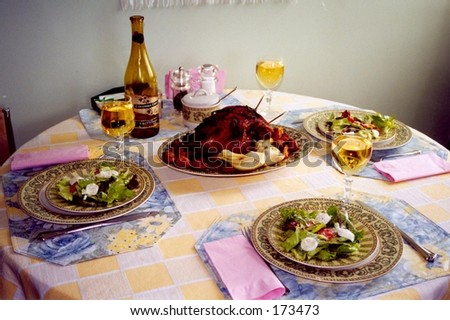 Diner at home - stock photo