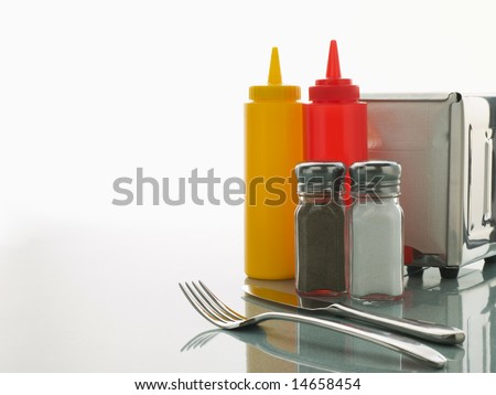 Diner Table with Sweet Condiments