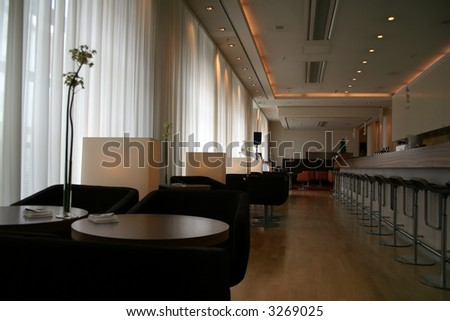 Dining bar in a casual and posh setting.