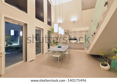 Dining room-1-3 - stock photo