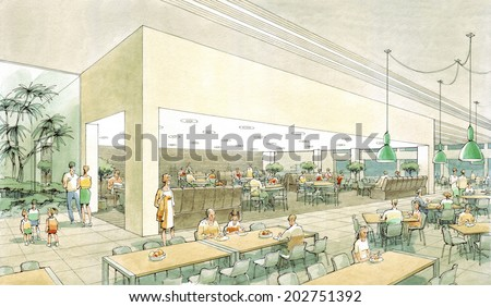 dining room-1 - stock photo