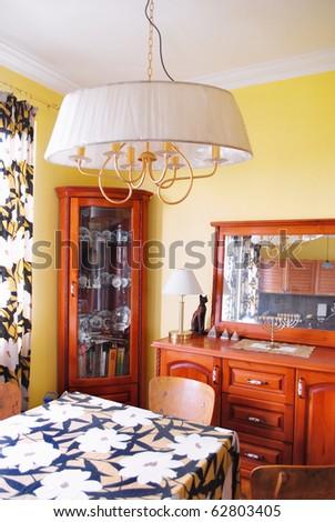 Dining-room interior - stock photo