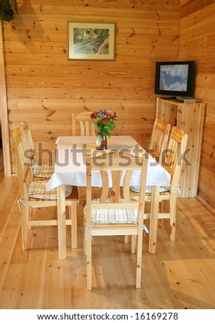 dining room on summer cottage