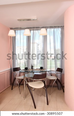 Dining room with the big window