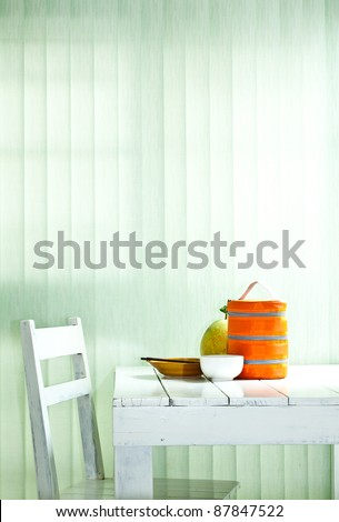 dining table - stock photo
