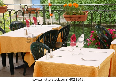 Dining Tables - stock photo