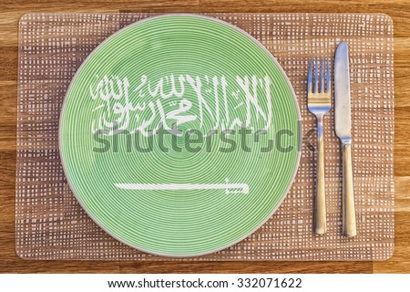 Dinner plate with the flag of San Marino on it for your international food and drink concepts. - stock photo