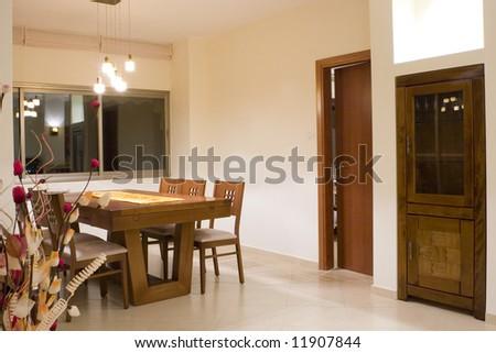 Dinner room/ Living room dinner table - stock photo