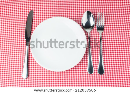 dinner table with utensil