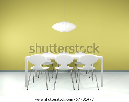 Dinning interior - stock photo