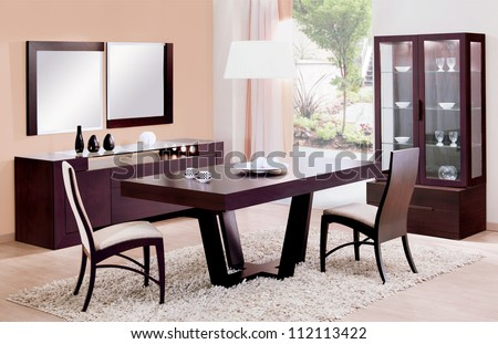 dinning room - stock photo