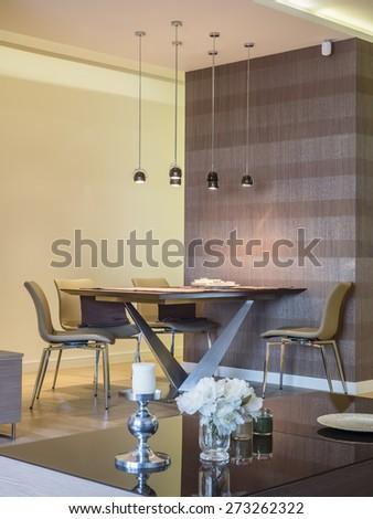 Dinning room interior - stock photo