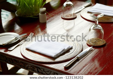 dinning table restaurant