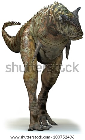 Dinosaur Carnivore stalk front - stock photo