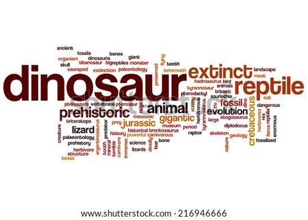 Dinosaur concept word cloud background - stock photo