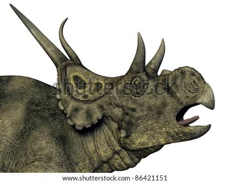 Dinosaur Diabloceratops Computer generated 3D illustration - stock photo