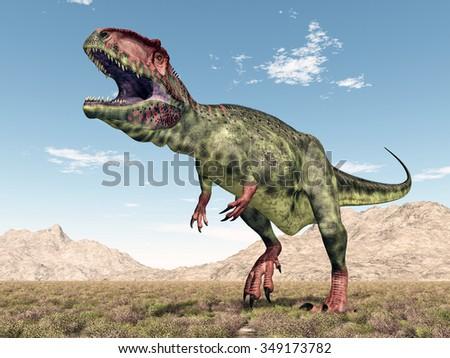 Dinosaur Giganotosaurus Computer generated 3D illustration - stock photo