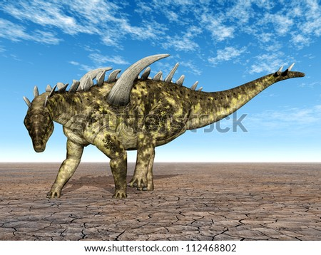 Dinosaur Gigantspinosaurus Computer generated 3D illustration