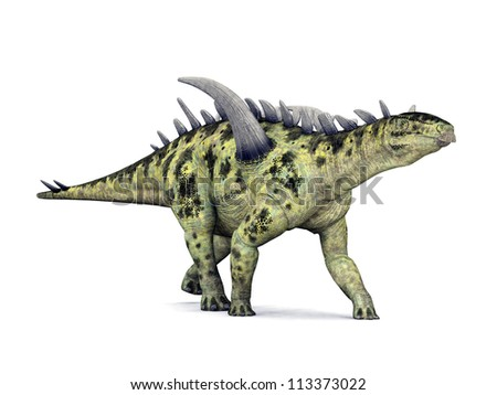 Dinosaur Gigantspinosaurus Computer generated 3D illustration - stock photo