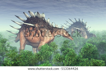 Dinosaur Kentrosaurus Computer generated 3D illustration