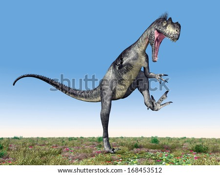 Dinosaur Megalosaurus Computer generated 3D illustration - stock photo
