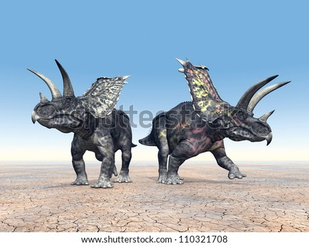 Dinosaur Pentaceratops Computer generated 3D illustration
