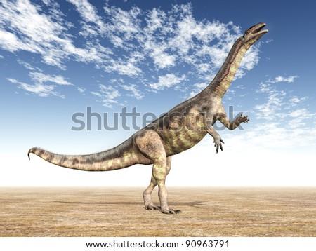 Dinosaur Plateosaurus Computer generated 3D illustration - stock photo