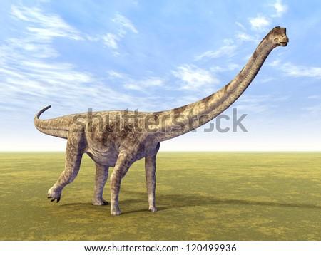 Dinosaur Puertasaurus Computer generated 3D illustration - stock photo