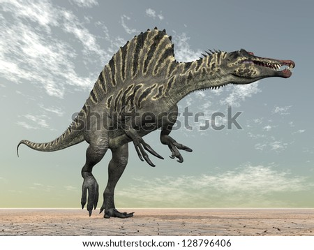 Dinosaur Spinosaurus Computer generated 3D illustration